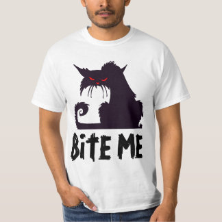 BITE ME, Angry Cat T-shirts