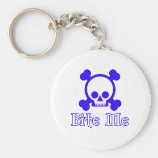 Bite Me Basic Round Button Keychain