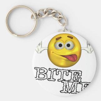 Bite Me! Basic Round Button Keychain