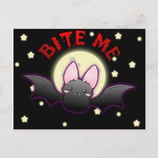 Bite Me Bat Postcard postcard