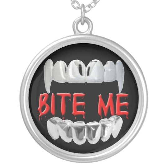 Bite Me Blood And Teeth Necklace