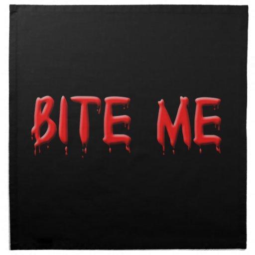 Bite Me Blood Napkins