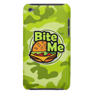 Bite Me bright green camo camouflage Barely There iPod Case