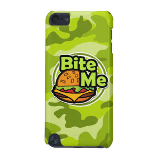 Bite Me bright green camo camouflage iPod Touch (5th Generation) Covers