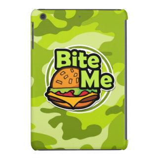 Bite Me; bright green camo, camouflage iPad Mini Case