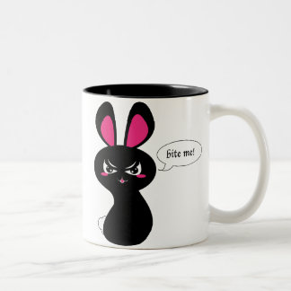 Bite Me Bunny Two-Tone Coffee Mug