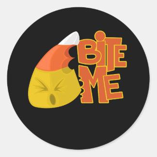 Bite Me - Candy Corn Classic Round Sticker