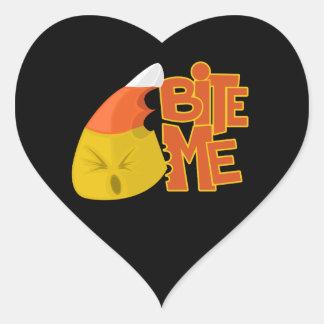Bite Me - Candy Corn Heart Sticker