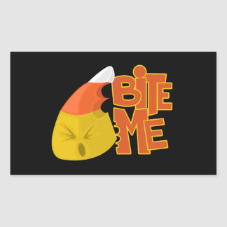 Bite Me - Candy Corn Rectangular Sticker