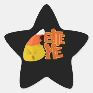 Bite Me - Candy Corn Star Sticker
