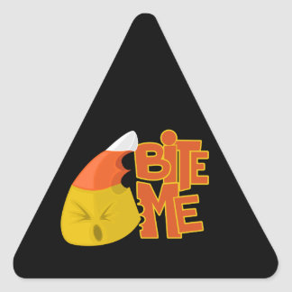 Bite Me - Candy Corn Triangle Sticker