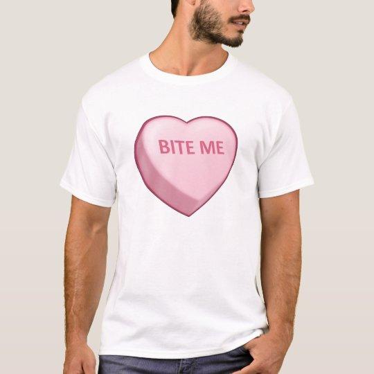 BITE ME Candy Heart T-Shirt
