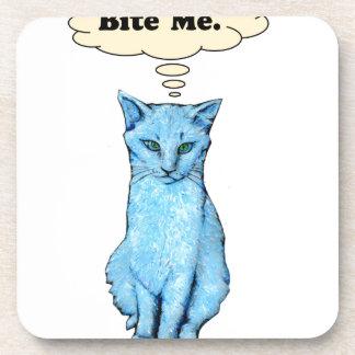 Bite Me Cat Beverage Coaster