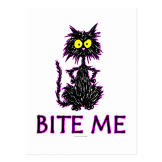 Bite Me! Cat Gift Designs Postcard