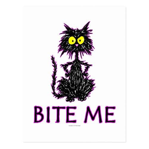 Bite Me Cat Gift Designs Postcard