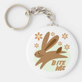 Bite Me Chocolate Bunny Keychain
