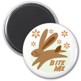 Bite Me Chocolate Bunny 2 Inch Round Magnet