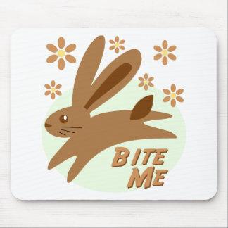 Bite Me Chocolate Bunny Mouse Pad