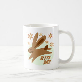 Bite Me Chocolate Bunny Coffee Mugs