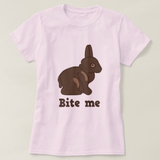 Bite me chocolate bunny t-shirt