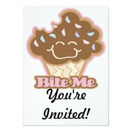 bite me chocolate cupcake card