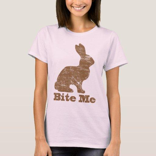 Bite Me Chocolate Easter Bunny T Shirt
