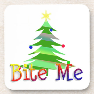 Bite Me! Christmas Beverage Coaster
