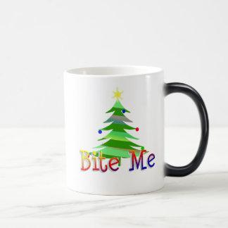 Bite Me Christmas Tree Magic Mug
