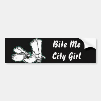 Bite Me City Girl Bumper Sticker