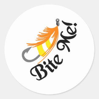 Bite Me Classic Round Sticker