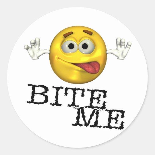 Bite Me! Classic Round Sticker