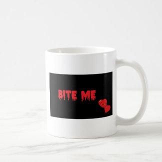 Bite Me Classic White Coffee Mug