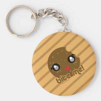 Bite Me! cookie edition Basic Round Button Keychain