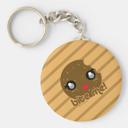 Bite Me! cookie edition Key Chains