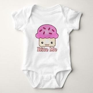 Bite Me Cupcake Baby Bodysuit