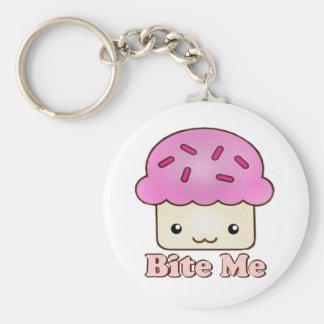 Bite Me Cupcake Basic Round Button Keychain