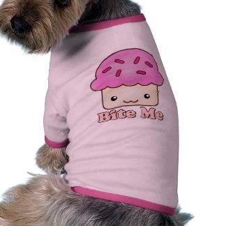 Bite Me Cupcake Pet Tee Shirt