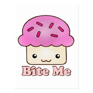 Bite Me Cupcake Postcard