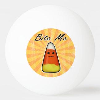 Bite me cute funny Kawai Halloween candy corn Ping Pong Ball