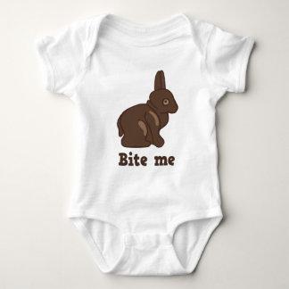 Bite Me Easter Bunny Baby Bodysuit