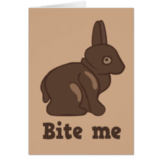 Bite Me Easter Bunny Greeting Card