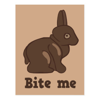 Bite Me Easter Bunny Postcard