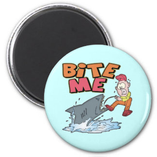 Bite Me Fishing T-shirts and Gifts 2 Inch Round Magnet