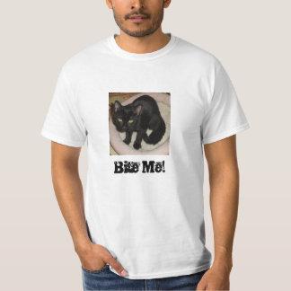 Bite Me Funny Black Cat T-Shirt