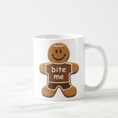 Bite Me Gingerbread Coffee Mug