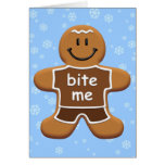 Bite Me Gingerbread Man Cards