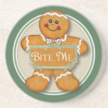 Bite Me Gingerbread Man Coasters