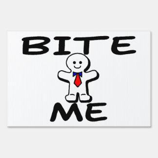 Bite Me Gingerbread Man Lawn Sign