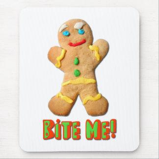 Bite Me Gingerbread Man Mouse Pad