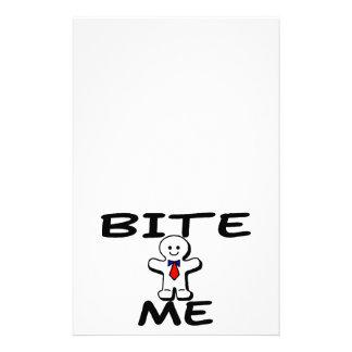 Bite Me Gingerbread Man Stationery